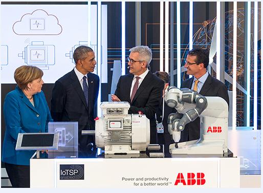 ABB亮相汉诺威,吸引德美领导人驻足参观
